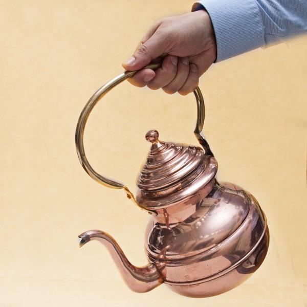 Винтажный Чайник Медный Бельгия - 3 литра , середина ХХ века!