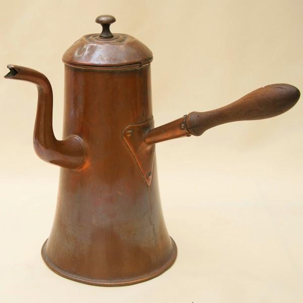 Кофейник - Чайник - Джезва  на 2 литра, Медь Франция середина ХХ века.