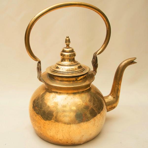 Винтажный Большой Латунный Чайник на 6 литров. Бельгия 50-е годы ХХ века.
