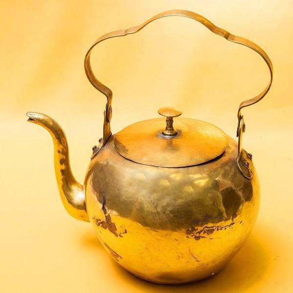 Старинный Декоративный Латунный Чайник Франция - 3 литра, начало ХХ века!