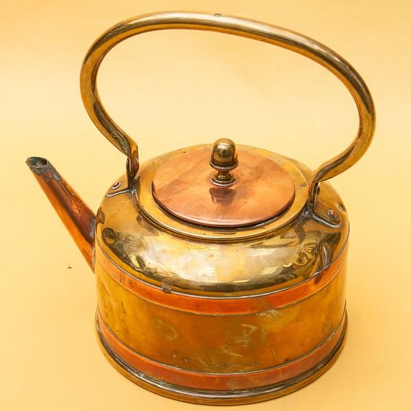 Винтажный Медно - Латунный Чайник на 1,2 литра. DAALDEROP Голландия 30-е годы ХХ века.