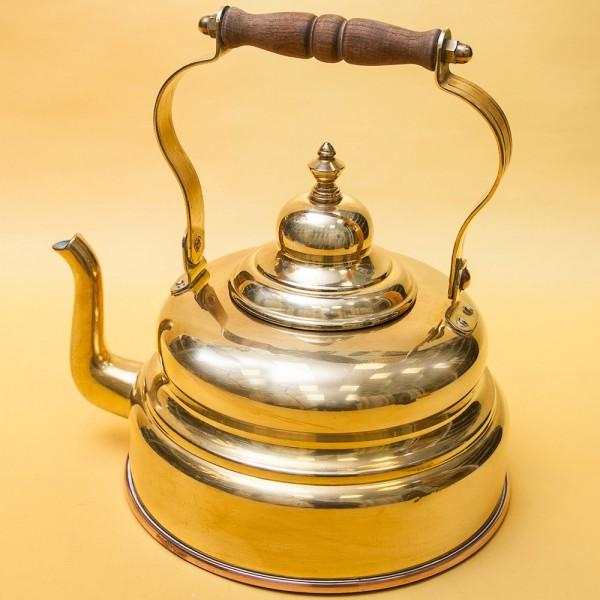 Винтажный Латунный Чайник PLANBODEN Западная Германия - 2,5 литра, середина ХХ века!