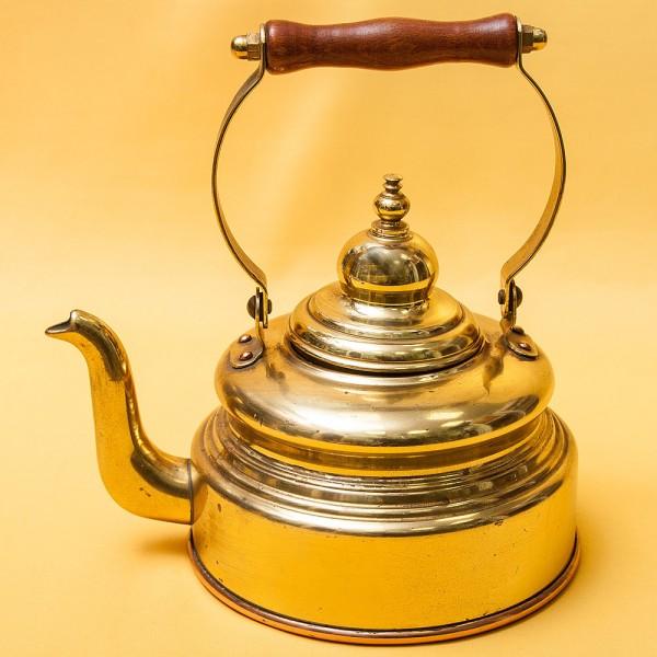 Винтажный Латунный Чайник PLANBODEN Западная Германия - 2 литра, середина ХХ века!