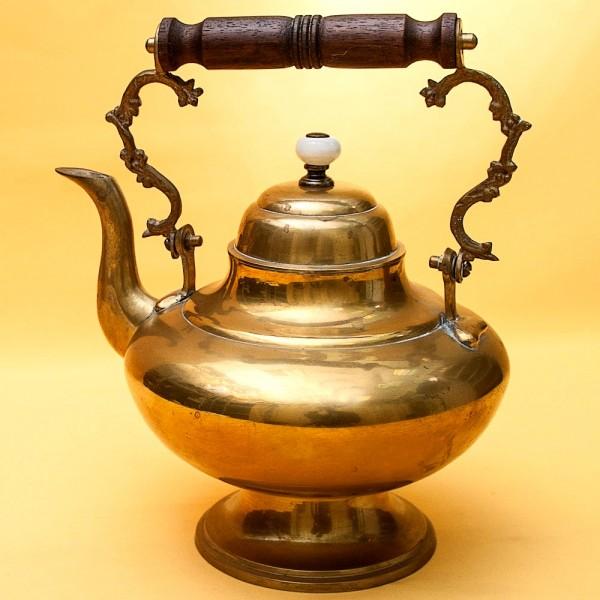 Винтажный Латуный Заварочный Чайник Бельгия - 1 литр, середина ХХ века!