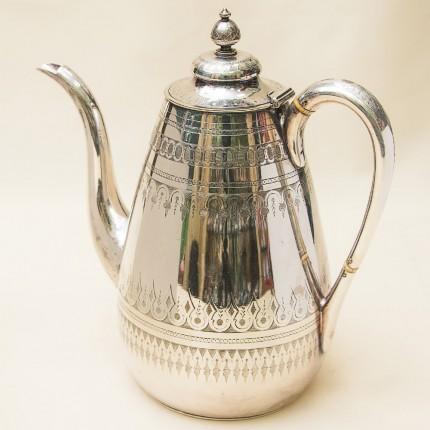 Редкость! Металлический Кофейник - Заварочный Чайник на 2 л. Silverplate, Англия 50-е гг.