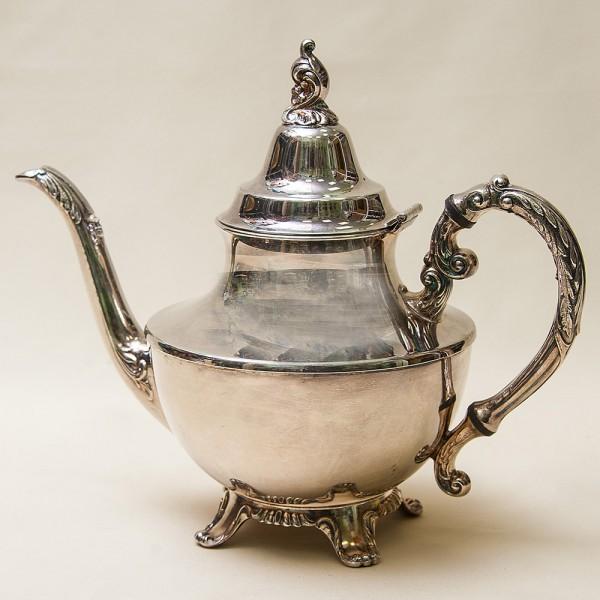 Винтажный Кофейник - Заварочный Чайник на 1 л. Silverplate, Oneida Канада 50-е гг.