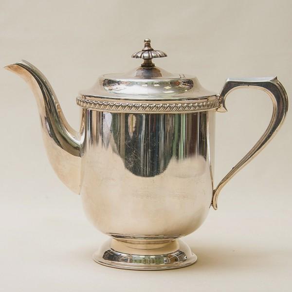 Металлический Кофейник - Заварочный Чайник на 1 л. Silverplate, SHEFFIELD Англия 50-е гг.