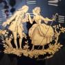 Классическая Шкатулка «Дама с Кавалером» Фарфор Кобальт Лимож Limoges Франция.