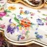 Большая Фаянсовая Шкатулка - Ларец «Цветочная симфония» Бельгия середина ХХ века.