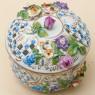 Коллекционная Шкатулка-Бонбоньера «Цветение Лета» Фарфор SP Dresden Германия