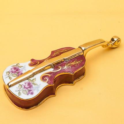 Шкатулка - мелочёвница «Скрипка»  Фарфор LEGLE Porcelain Франция