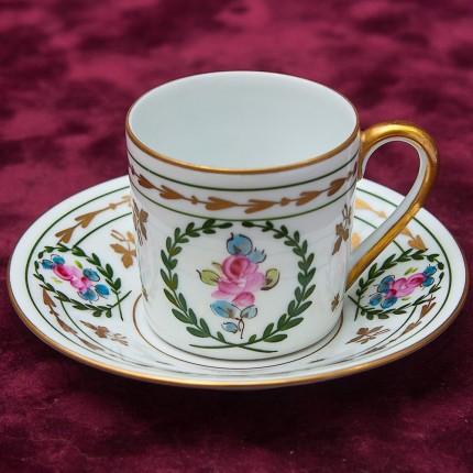Коллекционная Кофейная Пара Фарфор Лимож Limoges - SINGER Porcelain Франция.