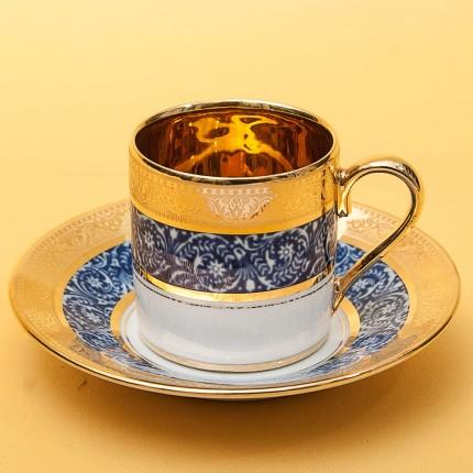 Коллекционная Кофейная Пара «L'héritage des Rois - Bleu» Фарфор Лимож Limoges Франция