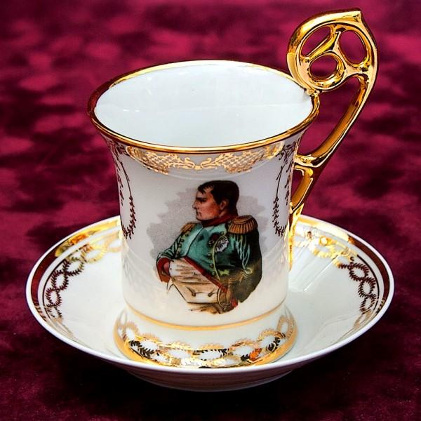 Коллекционная Кофейная Пара «Napoleone Buonaparte» Фарфор Лимож Limoges Франция