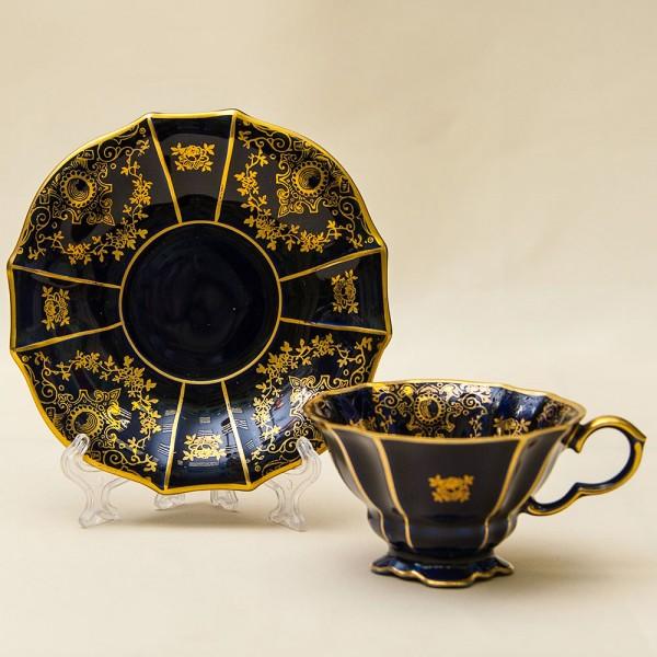 «Золотое Кружево» - Коллекционная Кофейная Пара Фарфор Германия LINDNER Kueps -60гг.