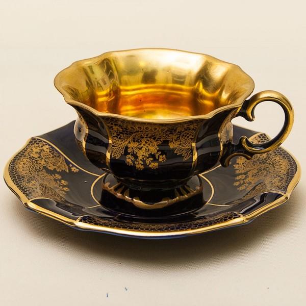 Коллекционная Кофейная Пара «Королевское Кружево» Фарфор Германия LINDNER Kueps -60гг.