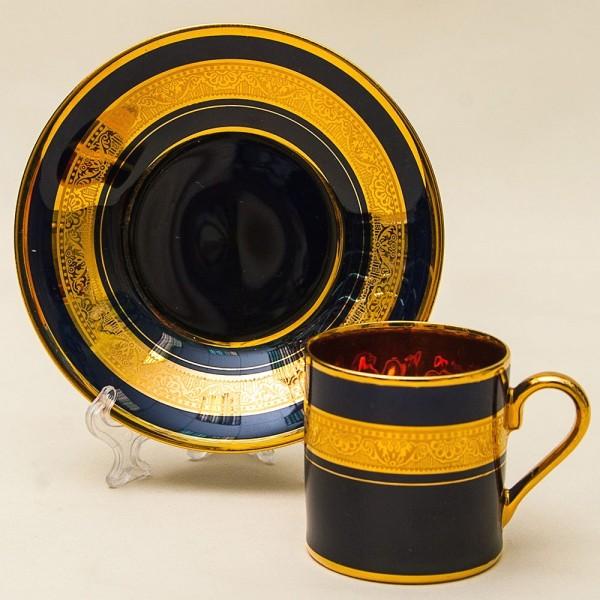 Коллекционная Кофейная Пара «Королевская Роскошь» Фарфор Лимож Limoges Франция