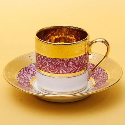Коллекционная Кофейная Пара «L'héritage des Rois - Rose» Фарфор Лимож Limoges Франция