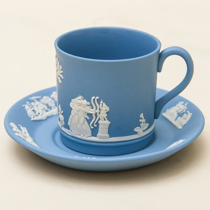 Коллекционная Кофейная пара «Амазонки» фарфор ВЕДЖВУД, WEGDWOOD, Англия -70гг.