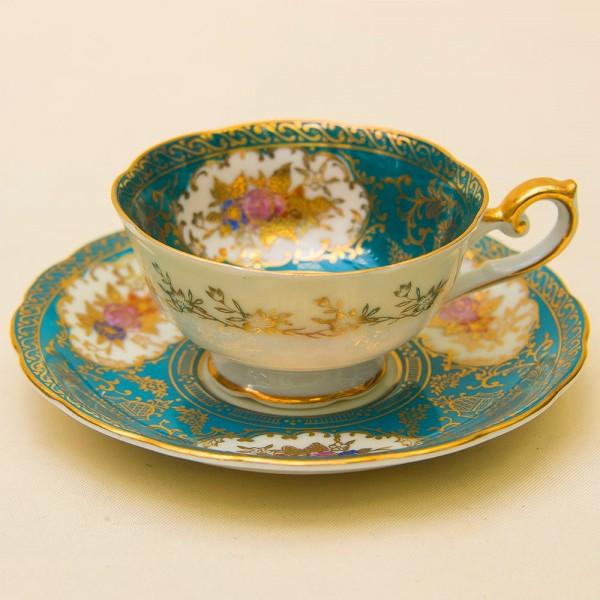 Редкая! Коллекционная Фарфоровая Кофейная пара IMPERIAL MITO Porcelain, Китай - 1949 год.
