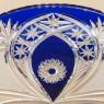 Блюдо - Фруктовница Синего Хрусталя JOSKA BODENMAIS Германия D-29 см., конец 60-х гг.