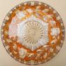 Винтажное Блюдо - Фруктовница «Жёлтая Роза» из Цветного Хрусталя, D - 28,5 см. Бельгия.