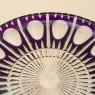 Блюдо - Фруктовница Цветного Хрусталя SCHONBORNER Германия D-29 см., конец 60-х гг.
