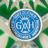 Блюдо - Фруктовница Зелёного Хрусталя GUTEZEICHEN Германия D-28 см., конец 60-х гг.