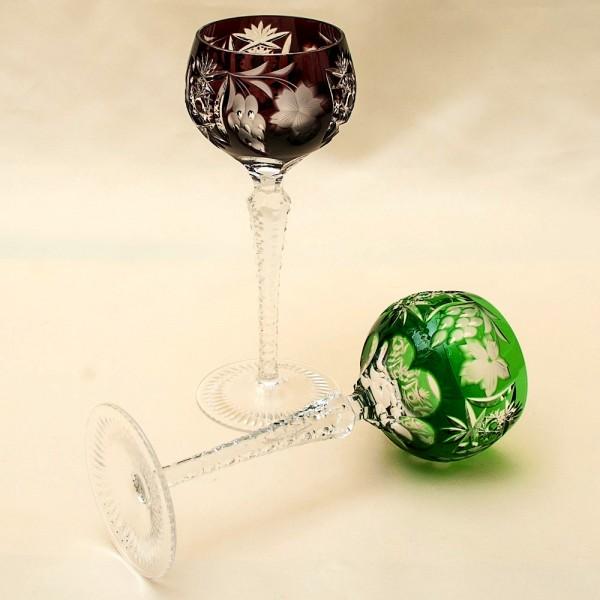 Два Бокала серия «Виноград» из Цветного Хрусталя, NACHTMANN Германия, 60 -е годы ХХ века.