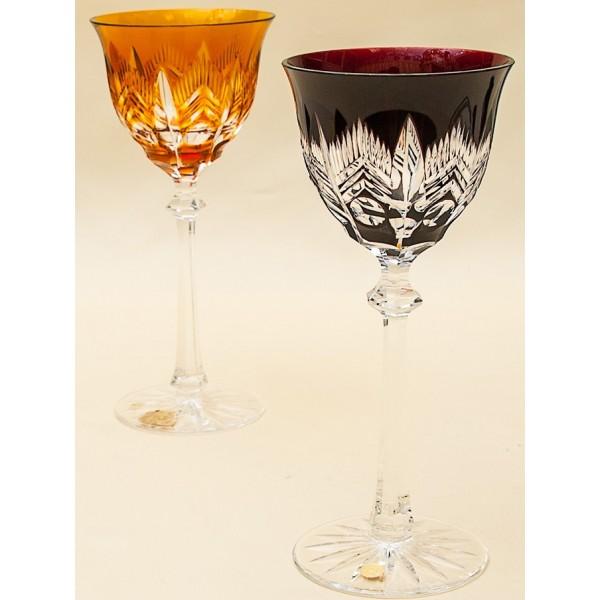 Два Бокала для вина серия «ARCTIС» Цветной Хрусталь, JOSEPHINENHUTE, Германия, 60гг.