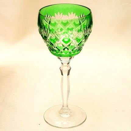 Винтажный Бокал для вина Цветной Хрусталь, JOSEPHINENHUTE, Германия, 60гг.