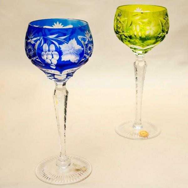 Набор «Тет-а-Тет» Бокалы серия «Виноград» из Цветного Хрусталя, NACHTMANN Германия, 60 -е годы ХХ века.
