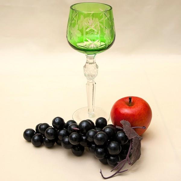 Винтажный Бокал «Виноград» из Цветного Хрусталя, Annahütte Германия, 50 -е годы ХХ века.
