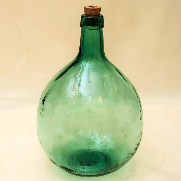 Большая Старая Бутыль из Зелёного Стекла на 5 литров, Франция середина ХХ века!