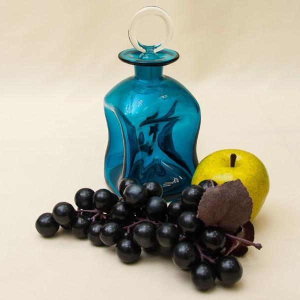 Винтажная Стеклянная Бутылка - Соусник - Штоф «Kluk - Kluk» на 400 мл., Дания.