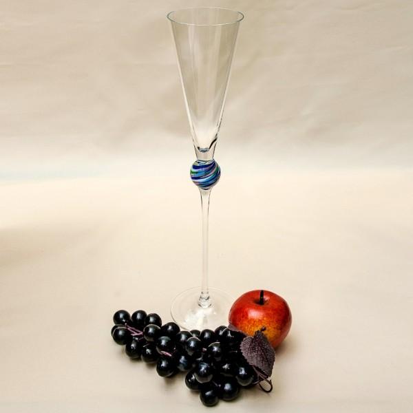 Коллекционный Авторский Стеклянный Фужер для Шампанского - «УКРАШЕНИЕ» Rosenthal Германия.