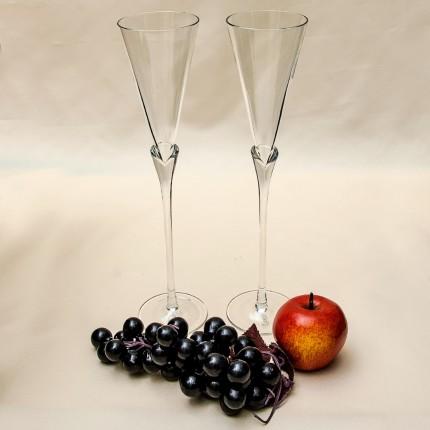 Пара Коллекционных  Стеклянных Фужеров для Шампанского - «Колокольчик» Rosenthal Германия.