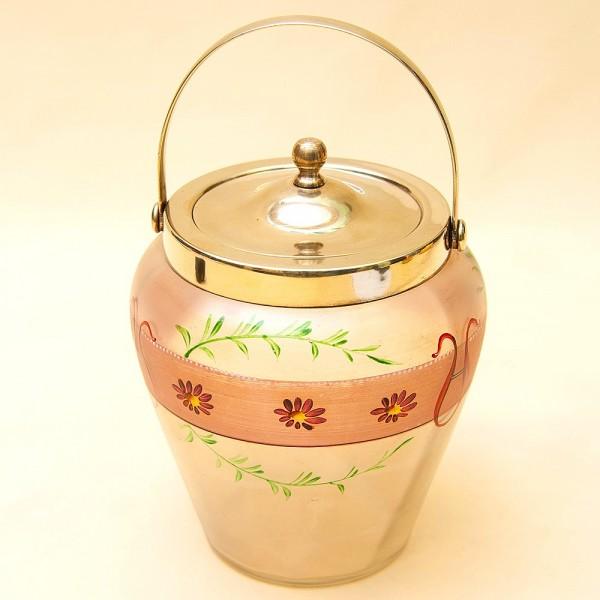 «Пастораль» - Бисквитница - Сахарница - Баночка с крышкой, Стекло Англия 50-е годы ХХ века.