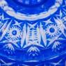 Конфетница - Шкатулка - Ваза с крышкой, Цветной Хрусталь SCHONBORNER Германия конец 60-х гг.