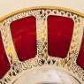 Коллекционная Ваза  - Конфетница «Рубиновый Хрусталь» , ERNST WITTIG, Германия середина ХХ века.