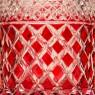 Набор для Виски Графин и Два Стакана из Цветного Хрусталя DOROTHEENHUTTE Западная Германия 50гг.