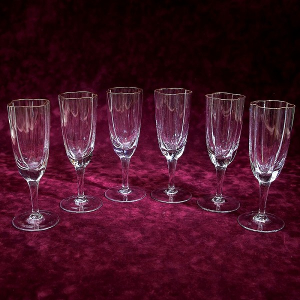 Редкость! Набор Хрустальных Бокалов для Шампанского DOROTHEENHUTTE Германия 1920 -1926 год.