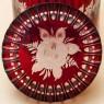 Рубиновый Хрусталь - Баночка с крышкой - Шкатулка - Бонбоньерка «Роза», Egermann, Богемия, Чехия.