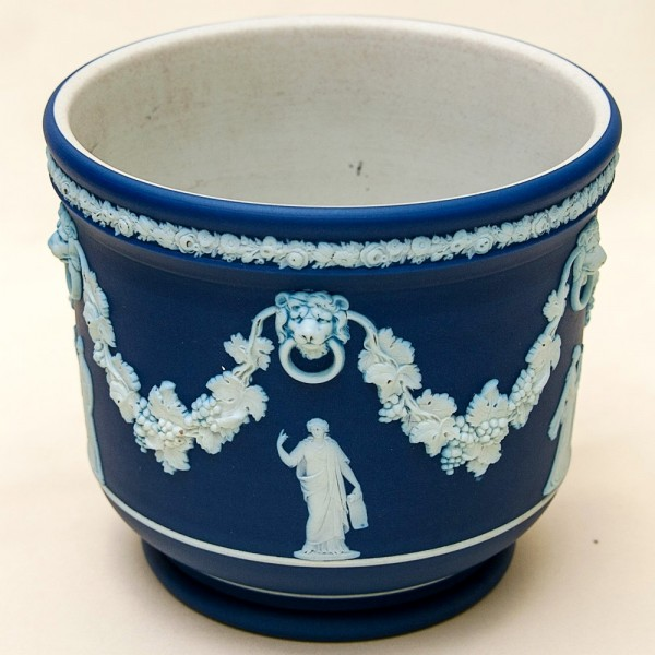 «Синий Антик» - Ваза - Кашпо для цветов, Фарфор WEDGWOOD, Англия 60-е годы XX века.