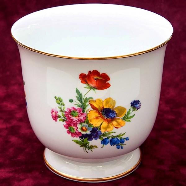 Коллекционная Ваза - Кашпо для цветов «Цветение лета» Фарфор KAISER Германия.