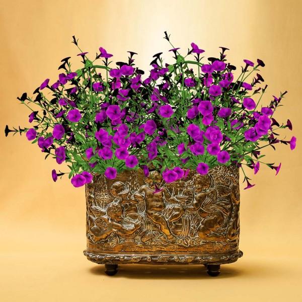 Большое Кашпо для цветов «Ангелочки - Путти», Латунь, Англия, начало XX века.