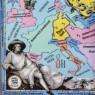 Блюдо - Тарелка «Карта Путешествие Гете» Фарфор WEIMAR Германия 1933-1949 годы.