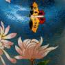 Винтажная Ваза «Пионы» в технике «Клуазоне» Китай 50 -е годы ХХ века Н - 23 см.