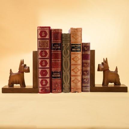 Винтажные Деревянные Держатели-Подставки для книг «Скотчтерьеры» Англия 60 -е годы ХХ век.