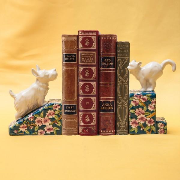 Винтажные Фаянсовые Держатели-Подставки для книг «Кошка с Собакой» Бельгия 50 -е годы ХХ век.
